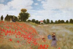 Claude Monet - Poppies 1873 Impressionism Poster Print 47x32in 128049