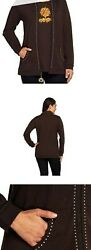 New Quacker Factory Charmed Iand039m Sure Jacket And T-shirt Brown Sz 1x