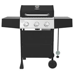 Expert Grill 3 Burner Propane Gas Grill Outdoor Cooking Patio Barbecue Black