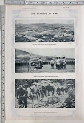 1914 Times Of India Ww1 Print Russians At War Advance Through Galicia Cavalry