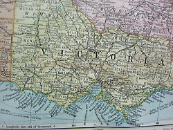 1919 Large Map Australia South East Victoria New South Wales Melbourne Sydney