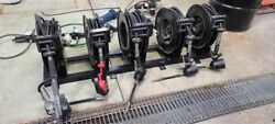5 Industrial Reel Set Up W/balcrank And Graco Oil/grease Dispensers Mounting Rack