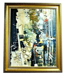 Marcellin Dufour Canadian Artist Oil On Canvas Painting 1981 Look For The Woman