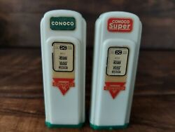 Conoco Super Gas Pump Salt And Pepper Shakers Advertising