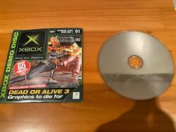 Xbox Magazine Playable Demo Disc 1 Dead Or Alive 3 Premiere Issue