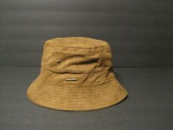 STETSON polyester Suede BUCKET HAT brown LARGE $20.00