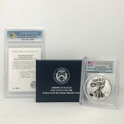 Pr70 Pcgs 2019-s American Silver Eagle Enhanced Reverse Proof Coin First Strike