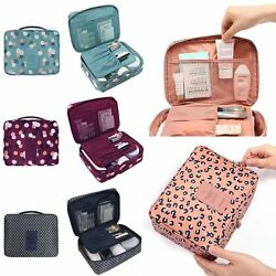 Women Portable Travel Makeup Bag Cosmetic Cases Toiletry Storage Organizer Pouch $9.78