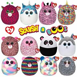 Ty Squish-a-boos 14 Super Soft Cuddle And Squeeze Squishy Animal Plush Toy