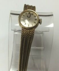 Solid 18kt Gold Gubelin 17 Jewel Womens Watch Good Condition Runs And Stops