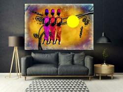 Grunge Retro African American Home Art African Hanging Artwork, Home Decor Gift