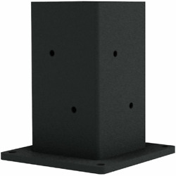 Linx Unifit Pergola Black Steel Post Base And Wall Mount Bracket For 6x6 Wood Po