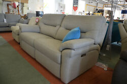 G Plan Seattle 3 Seater Sofa Twin Electric Recliners All Power Reclining Beige