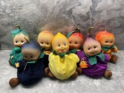 New Few W/ Tags Vintage Fruit Baby Plush Bean Bag Or 9 Small Small World Rare