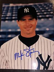 Ny Yankees Mike Stanley Signed Autographed 8x10 Photo Auto