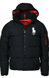Polo Big And Tall Big Pony Hooded Down Coat Size 3xlt