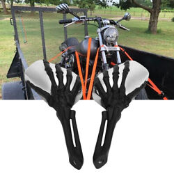 For Honda Fury Vt13cx Vt1300cx Motorcycle Skull Claw Rearview Mirrors 8mm 10mm