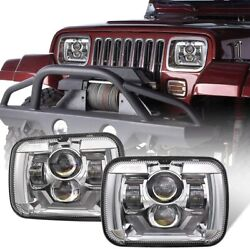 Fit For Jeep Cherokee Xj Yj Ford Van E250 5x7 7x6 Led Headlight Halo Drl Hilo