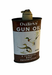 Vintage Outers Gun Oil Can Mallards 3 Oz With Oil 445a Outers Lab Onalaska, Wi