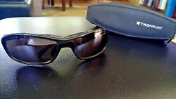 Tag Heuer Designer Sunglasses Th6001 604 With Padded Logo Zipper Case
