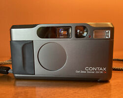 [mint] Contax T2 35mm Point And Shoot Camera - Titan Black - See Sample Photos