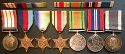 Naval General Service Medal Clasp Palestine Ww2 Long Service Medal And Ribbons.
