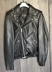 The Cast Bowery Nyc Men Motorcycle Genuine Leather Jacket Size Xs