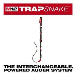 Milwaukee Toilet Auger Drain Cleaning Kit 6 Ft Trap Snake 12 Volt Lithium Ion