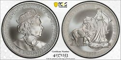 St. Helena 2020 1 Oz Una And The Lion Andpound1 Pcgs Ms69 Top Pop 6/0 True View