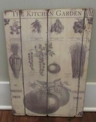 Garden Chart Wall Signprimitive Home/french Country Kitchen/farmhouse Decornew