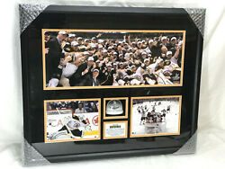 Boston Bruins 2011 Stanley Cup Champions Game Used Ice Water Framed Picture Pic