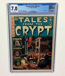 Tales From The Crypt 27. Cgc 7.0 O/w Pages, Classic Pre Code Guillotine Cover