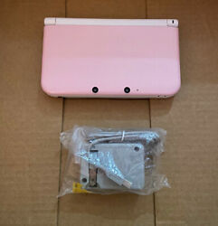 Nintendo 3ds Xl White And Pink Handheld System - - Fully Working