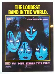 Custom Loudest Band In The World Creatures Of The Night Kiss Promo Poster 24x32