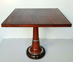 Home Decor Furniture Wooden Leather Stitched Square Coffee Cafe Bar Pub Table