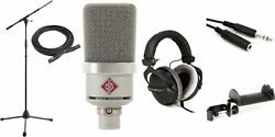 Neumann Tlm 102 Large-diaphragm Condenser Microphone With Stand And Cable -