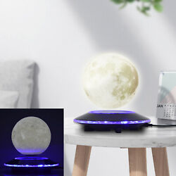 Levitating Moon Lamp Floating And Spinning In Air Freely W/ 3d Printing Led New