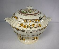 Spode China Buttercup Original Brown Backstamp Large Bulbous Soup Tureen And Lid