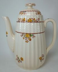 Spode China Buttercup Original Brown Backstamp Coffee Pot And Lid