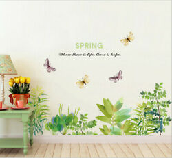 Removable Flowers Plant Butterfly Wall Sticker Art Mural Decal Room Decor DIY SY