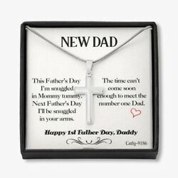 First Fathers Day Gift For New Dad Dad To Be Gift Idea For Expectant Dad Pendant