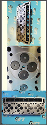 2 Ford 6.4 Powerstroke V8 Twin Turbo Diesel F350 O-ring Cylinder Heads Reman
