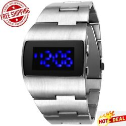 Best Ironman Luxury Gold Blue Red Menand039s Led Wrist Watches Unique Free Shipping