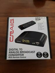 CRAIG Digital To Analog Broadcast Converter with Remote CVD509n New