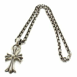 Chrome Hearts Ch Cross Pendant Small With Vail Paper Chain Necklace 18 In _77872
