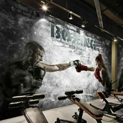 3d Boxing Sports Gym Fitness Wall Mural Wallpaper Living Room Bedroom Lounge