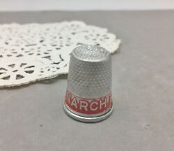 Monarch Ranges Aluminum Metal Thimble Promo Advertising Stove Vintage Sewing Red