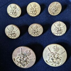 London Badge And Button Knight Patina Brass Gold 8pc Replacement Blazer Jacket