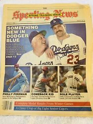 Autographed The Sporting News Magazine Kirk Gibson Tommy Lasorda March 7, 1988🔥
