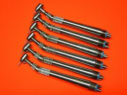 Midwest Quiet Air Lever Non Fiber Optic Dental Handpiece Set Of 6 And 3 Month Warr